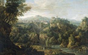 Picture landscape, oil, picture, canvas, View Of Tivoli, Isaac de Moucheron