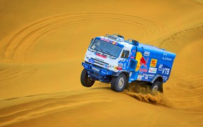 Picture The sky, Sand, Nature, Sport, Speed, Truck, Race, Master, Beauty, Russia, Beast, 300, Kamaz, Rally, …