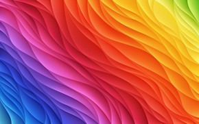 Wallpaper background, colored, Kolor, wavy, abstraction, background, abstract, rainbow, Rainbow