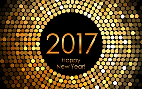 Picture New Year, golden, new year, happy, decoration, 2017, holiday celebration