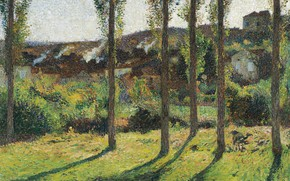 Picture landscape, picture, Henri-Jean Guillaume Martin, Henri Matrin, The House of Monsieur Pele Dominant