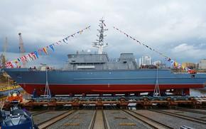 Picture Navy, minesweeper, launching, Ivan Antonov