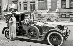 Picture retro, Ford, USA, car, 1916-the year