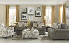 Picture room, Villa, interior, living room