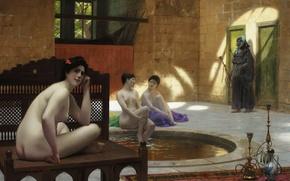 Picture erotic, interior, picture, Jean-Leon Gerome, Women in Turkish Bath