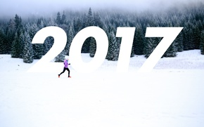 Picture Winter, Forest, Running, New year, 2017