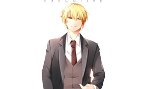 Picture anime, art, guy, blonde, Gilgamesh, Fate Grand Order, The destiny of a great campaign