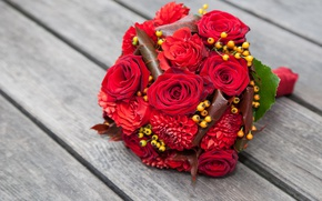 Picture roses, love, buds, flowers, romantic, roses, red roses, wedding bouquet
