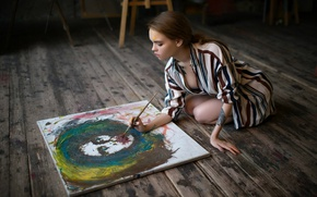 Picture paint, creativity, brush, Anastasia Shcheglova