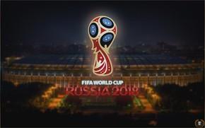 Picture Sport, Logo, Football, Moscow, Logo, Russia, 2018, Stadium, FIFA, FIFA, Luzhniki, World Cup 2018, The ...