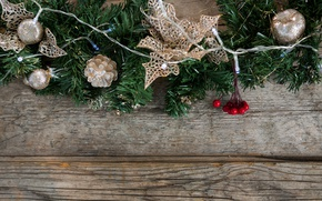 Picture New Year, Christmas, wood, merry christmas, decoration, xmas, fir tree