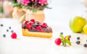 Picture berries, Apple, cake, dessert, jelly