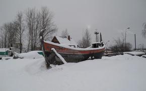 Picture winter, Barkas, Petrozavodsk, Lake Onega