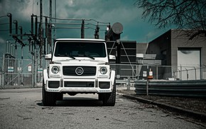 Picture Mercedes, Front, AMG, White, G63, Face, W463