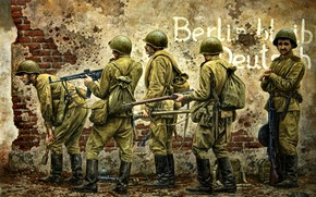 Picture soldiers, The great Patriotic war, Mosin Rifle, The second World war, The Red Army, Soviet, …