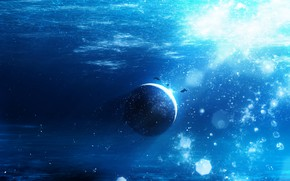 Picture fiction, planet, fish, under water, Y_Y