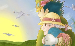 Picture Anime, Two, Howl's Moving Castle, Romance