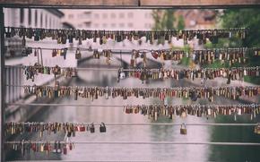 Picture macro, love, the city, river, background, loyalty, castle, mood, blur, love, a lot, locks, bokeh, …