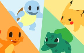 Picture grass, water, fire, element, turtle, dinosaur, mouse, electricity, light, fire, flame, grass, Pikachu, water, pokemon, …