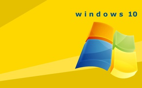 Wallpaper windows 10, logo, emblem, operating system