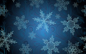 Wallpaper snowflakes, background, pattern, texture