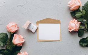 Picture Flowers, Letter, Roses, Ring, Holiday