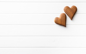 Picture hearts, love, wood, romantic, hearts, wooden, valentine's day
