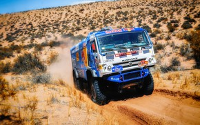 Picture Speed, Truck, Master, Russia, Kamaz, Rally, Dakar, KAMAZ-master, Dakar, Rally, KAMAZ, The front, The roads, …