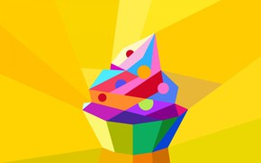 Picture macro, vector, cake, low poly