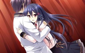 Picture girl, the game, anime, art, guy, Mote Sugite Shuraba na Ore