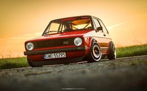 Picture Red, Auto, Volkswagen, Machine, Golf, Volkswagen Golf, Old, Volkswagen Golf GTI, Mike Crawat Photography, Mike …