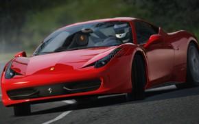 Picture Ferrari, Red, Corsa, Assetto