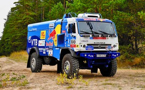 Wallpaper Nature, Forest, Sport, Truck, Race, Master, Russia, 300, Kamaz, Rally, Rally, KAMAZ, The roads, Best, ...