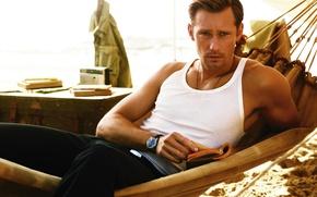 Wallpaper hammock, Alexander Skarsgard, Alexander Skarsgard, beautiful, male, book, Mike, watch, look
