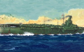 Picture aircraft carrier, IJN, junyo
