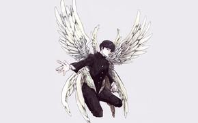 Picture angel, anime, art, guy, Mob Psycho 100, Kageyama Shigeo