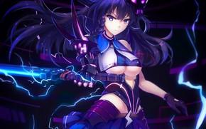 Picture kawaii, sake, girl, sword, big, anime, pretty, blade, asian, giant, manga, oriental, asiatic, oppai, sugoi, …