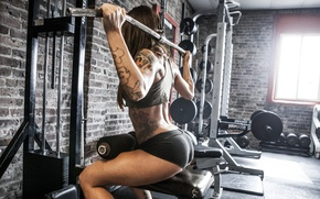 Picture brunette, female, workout, fitness, gym
