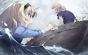 Picture water, Lily, girl, drowning, Grisaia: Phantom Trigger