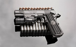 Wallpaper gun, background, bullets