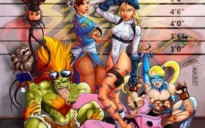 Picture girls, Art Collab with Makuzoku, Street Fighter Lineup