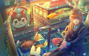 Picture the city, fish, guy, tagme (artist)