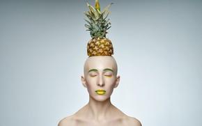 Picture \_(Sport)_/, art, pineapple, makeup, ( ͡° ͜ʖ ͡°), face