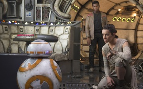 Picture cinema, Star Wars, movie, film, Finn, BB-8, John Boyega, Star Wars: Episode VII: The Force …