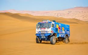 Picture The sky, Sand, Nature, Sport, Speed, Race, Master, Beauty, Russia, 300, Kamaz, Rally, Rally, KAMAZ, …