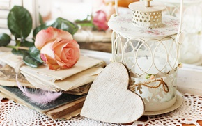 Picture love, rose, vintage, heart, romantic
