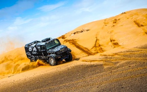 Wallpaper Race, KAMAZ, Dakar, Rally, Kamaz, Black, Master, Kapatnik, Dune, Sand, New