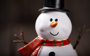 Picture New Year, Christmas, snowman, snow, merry christmas, snowman