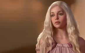 Wallpaper Khaleesi, Daenerys Targaryen, Junxiao Fang, game of thrones, art, SP, Daenerys Targaryen, Mother of Dragons