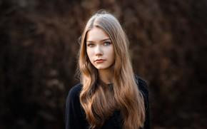 Picture portrait, sponge, the beauty, curls, Xenia, photographer Sergey Sergeev